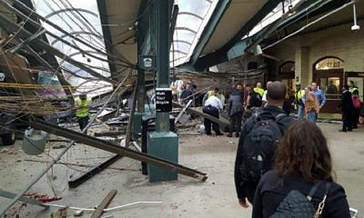 Más de 100 heridos en un accidente de tren en una estación de Nueva Jersey.