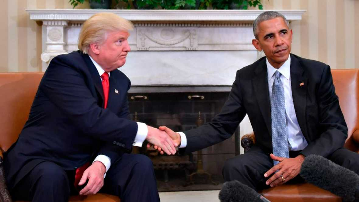 BARACK OBAMA Y DONALD TRUMP inician el traspaso de poderes.
