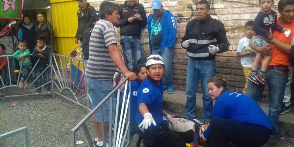 Juegos mecánicos ponen en peligro a niños en Totoracocha