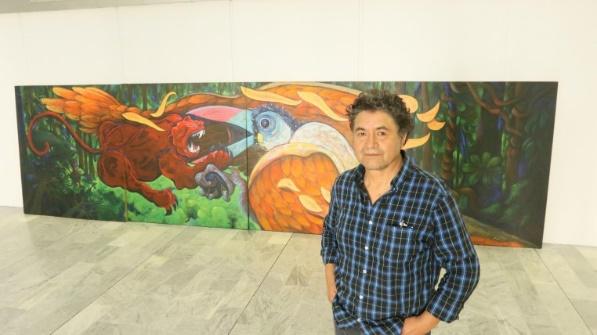 Obra sobre el Yasuní, de Jorge Chalco fue a Italia