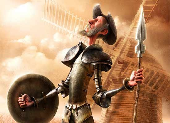 Donde se cuenta la graciosa manera que tuvo D. Quijote en armarse caballero.
