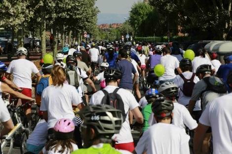 Record de participación en el 'Día de la bici'