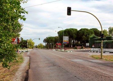 Nueva rotonda en la M-515 a la altura de Monteclaro