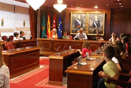 Los alumnos del Hermanos García Noblejas se convierten en concejales por unas horas