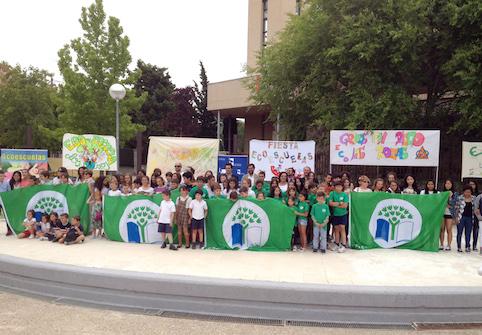 La Bandera Verde ondea en otros seis centros educativos de Las Rozas