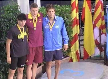 El nadador Luis García sube al pódium en el Campeonato de España Open de Verano