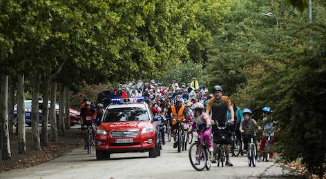 Más de 600 ciclistas pedalearon en la Fiesta de la Bici de Pozuelo