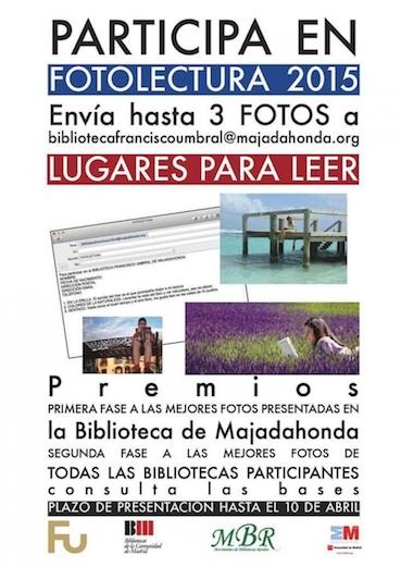 """La Biblioteca Francisco Umbral se une al concurso """"Fotolectura 2015"""""""