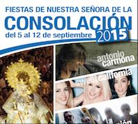 Antonio Carmona, La Unión y Sweet California actuarán en las Fiestas de la Consolación de Pozuelo