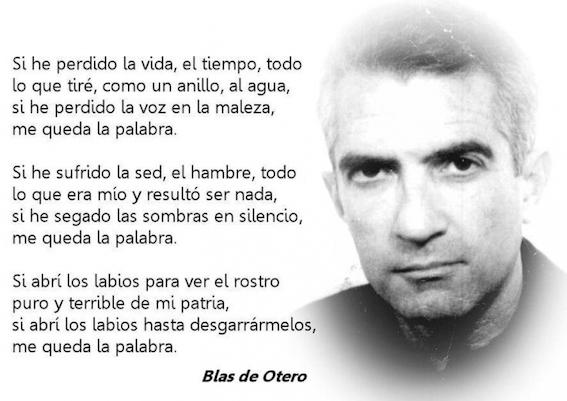Exposición sobre la vida del poeta Blas Otero