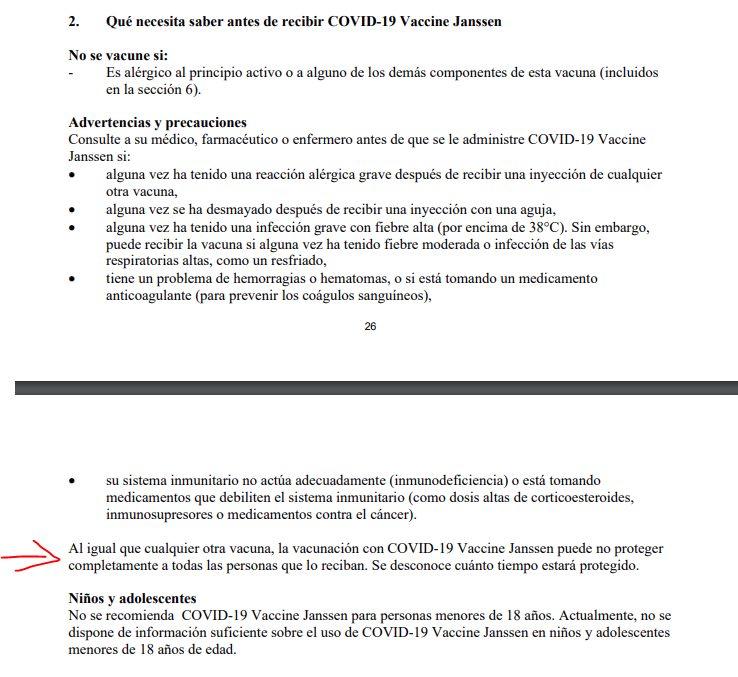 Prospecto vacuna Janssen COVID19