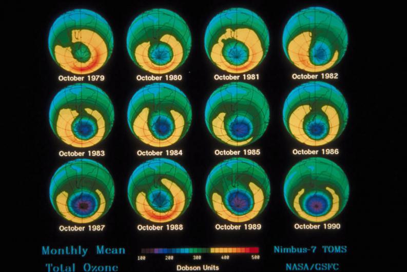 La salud de la capa de ozono