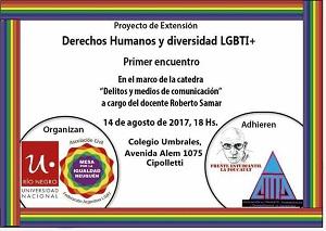 La Mesa por la Igualdad, disertando en la Universidad de Río Negro