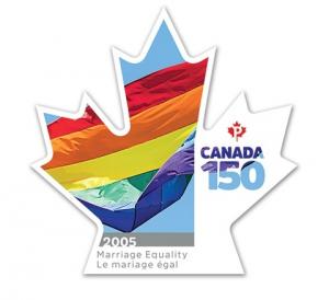 El matrimonio igualitario, reconocido por el servicio postal canadiense como uno de los diez hitos en la historia de su país