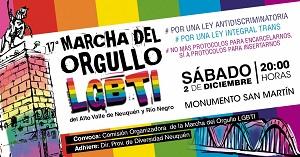 17º MARCHA DEL ORGULLO LGBT DE NEUQUEN Y RIO NEGRO