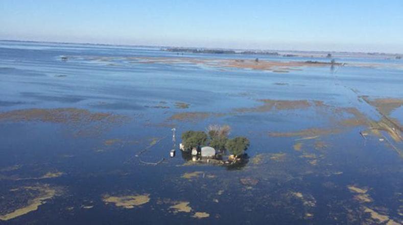 Inundaciones afectan ocho millones de hectáreas en Argentina