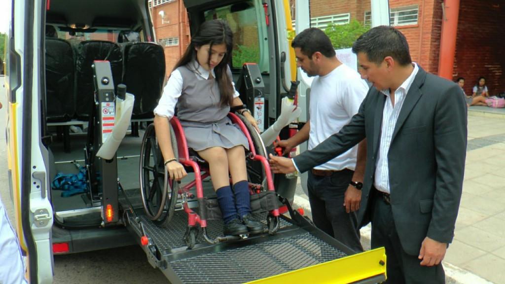 En Formosa ponen en marcha un servicio de transporte gratuito para personas con discapacidad