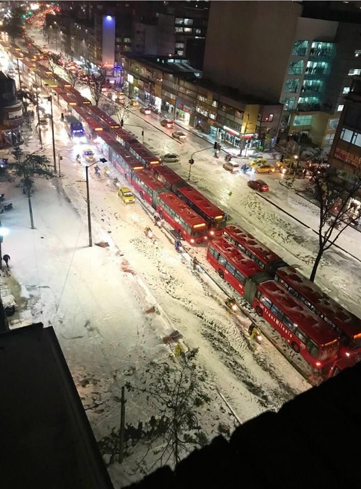 Llegó el Invierno y la Nieve a Bogotá? Por Gusta Blus