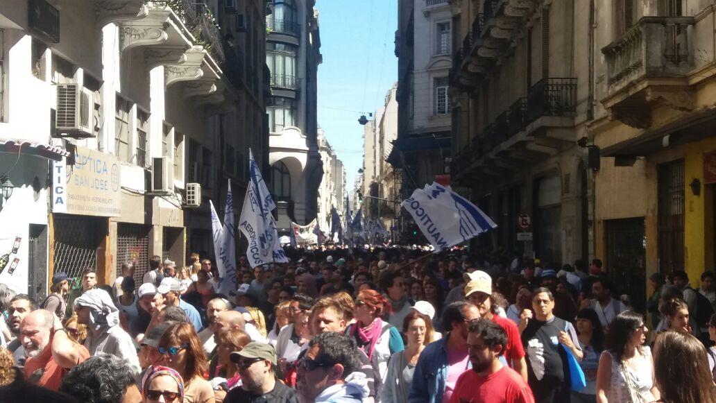 Marcha en contra de la Reforma Jubilatoria