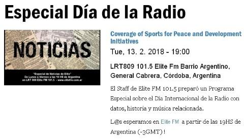 Especial Dia Mundial de la Radio