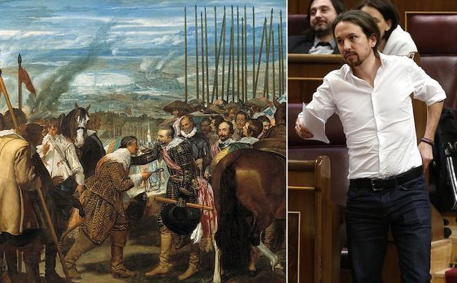 Iglesias vuelve a hacer gala de su incultura: esta vez con ´Las lanzas´ de Velázquez