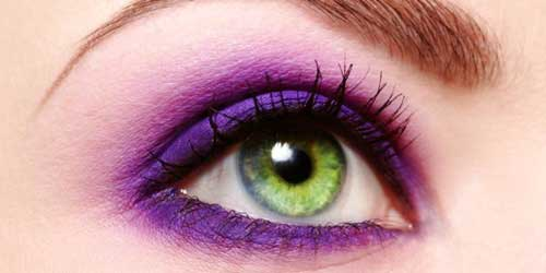 ¡Ahora el violeta en tus ojos!