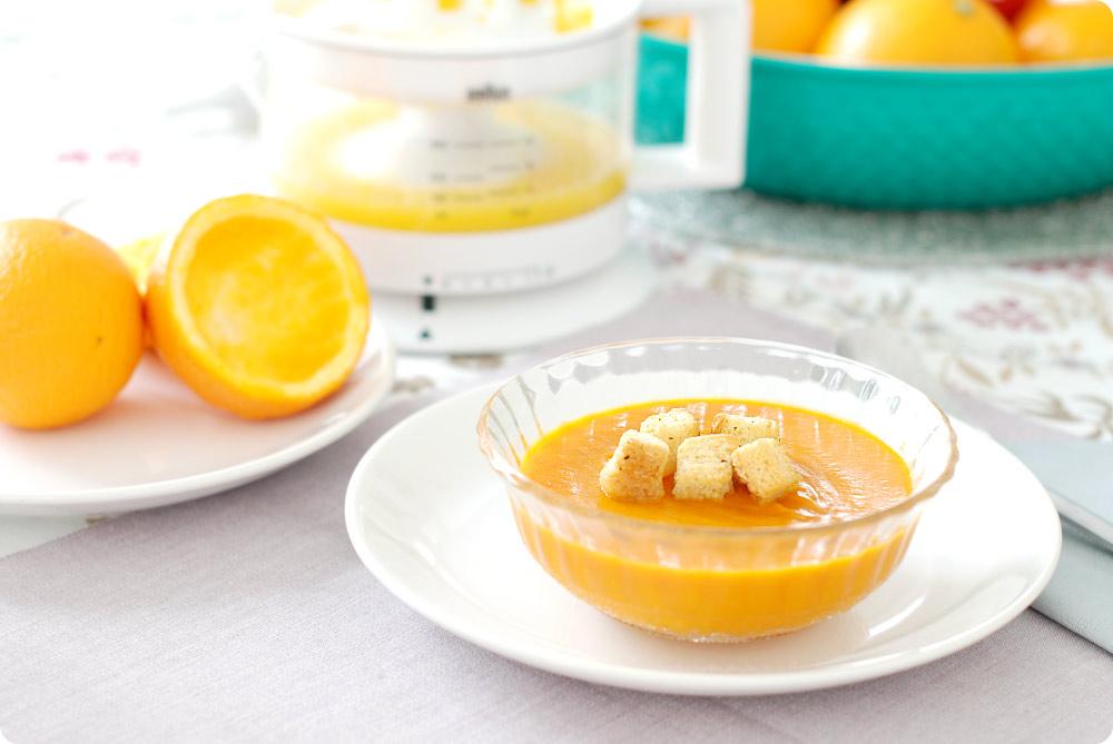 Crema de calabaza a la naranja, por Miriam Albero