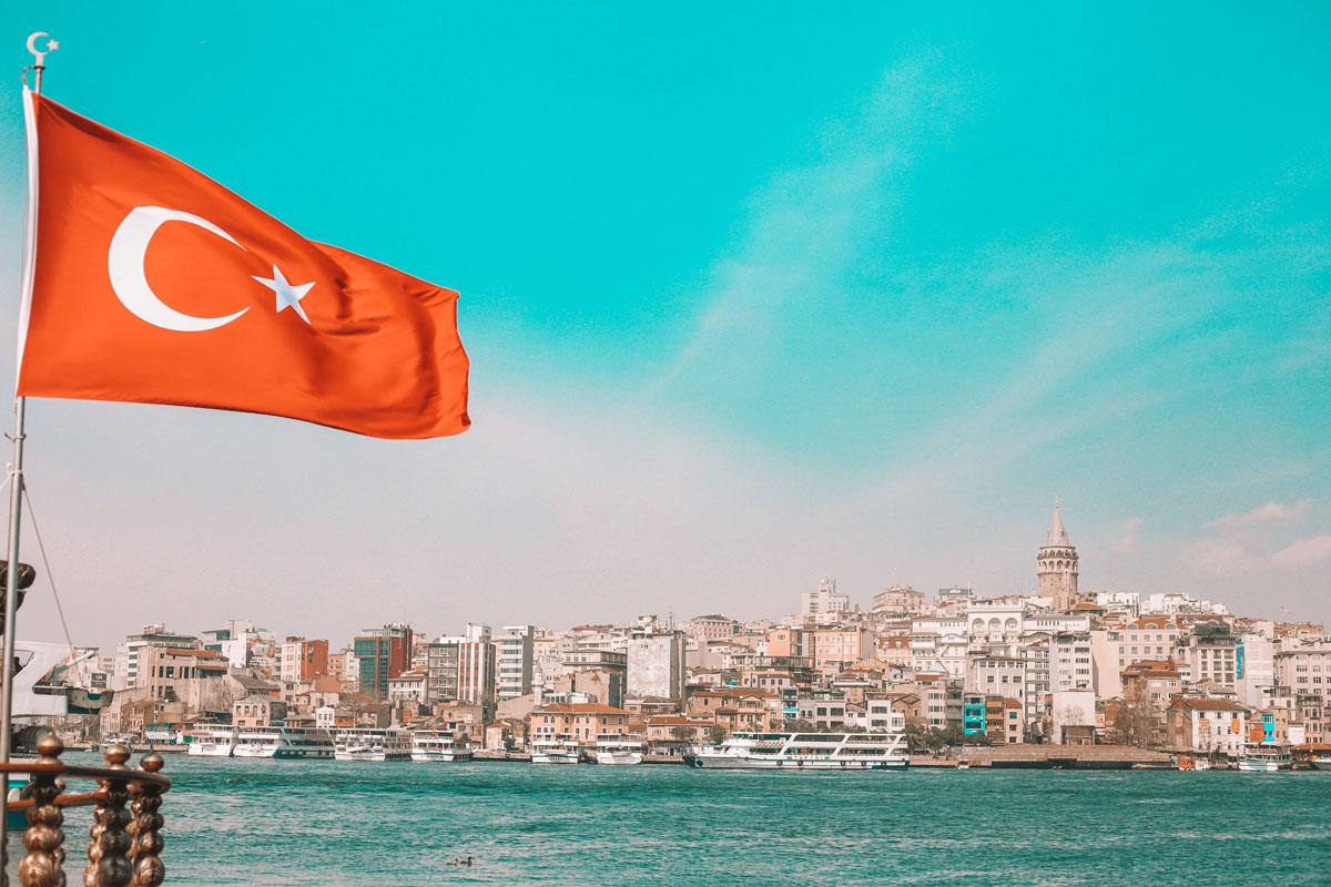 La Torre Gálata al otro lado de Estambul