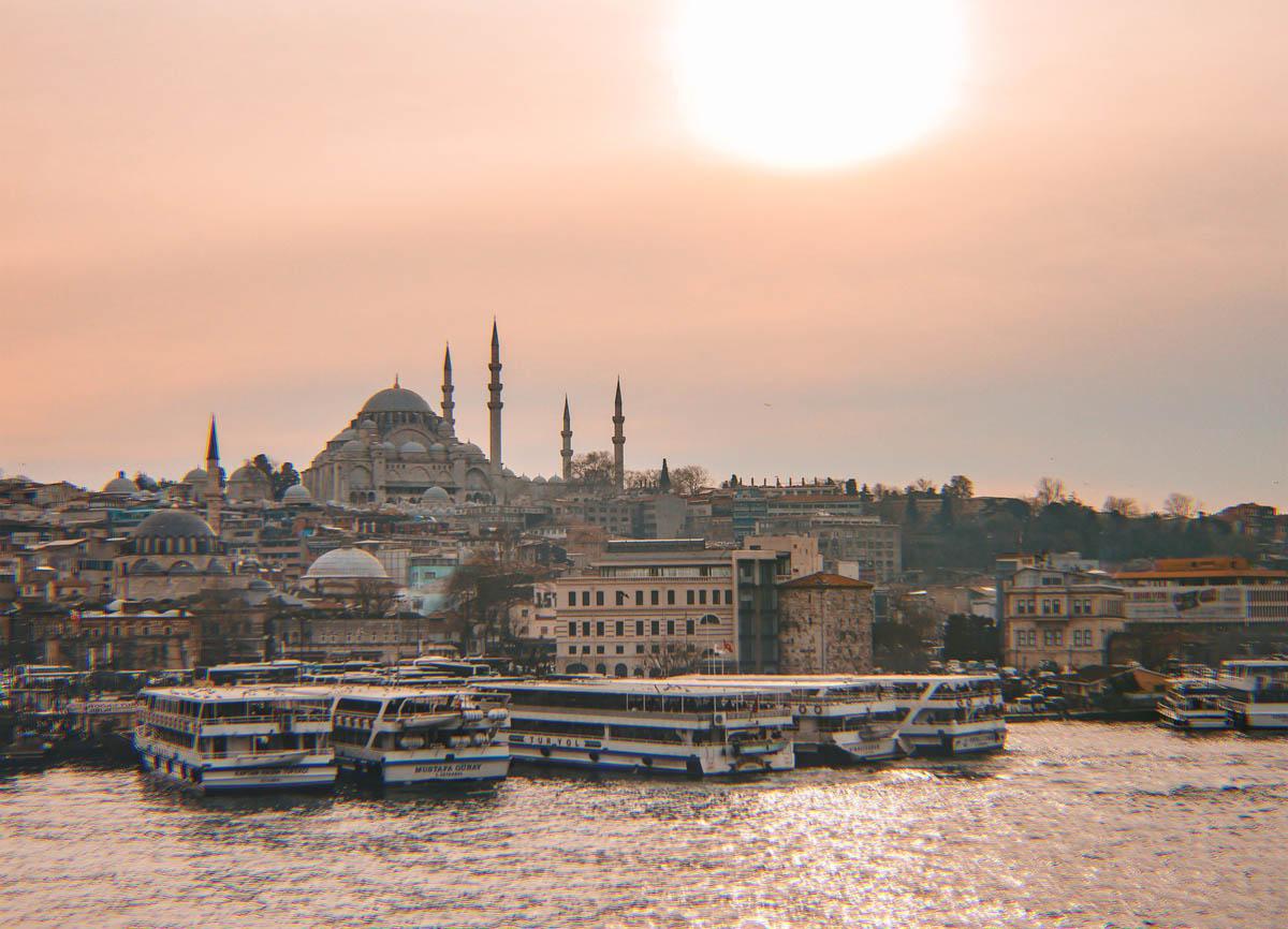 Atardecer en Estambul desde el Bósforo