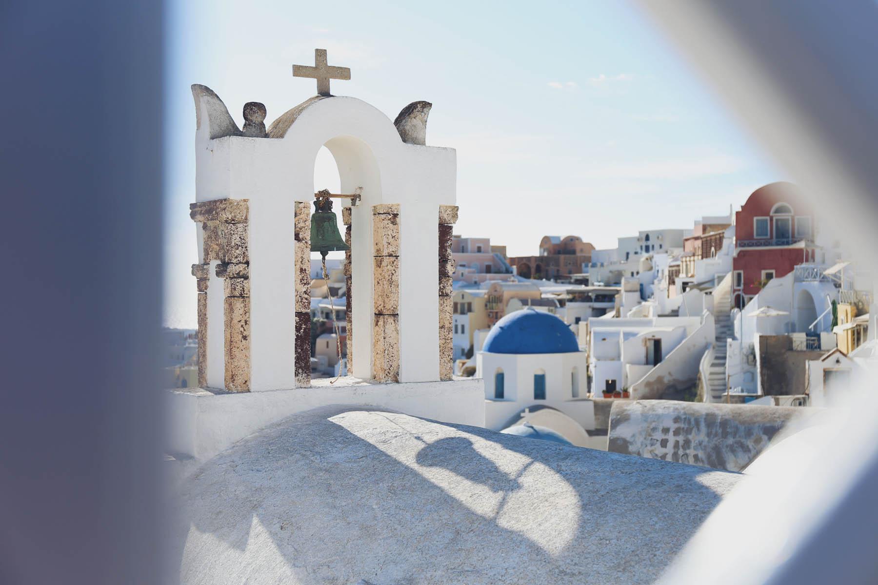 Las casitas blancas de Oia, en Santorini