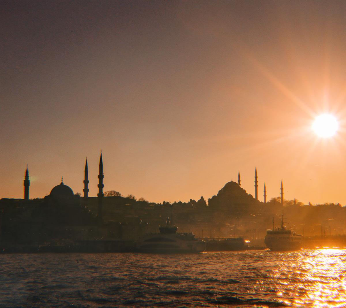 El atardecer de Estambul es simplemente mágico