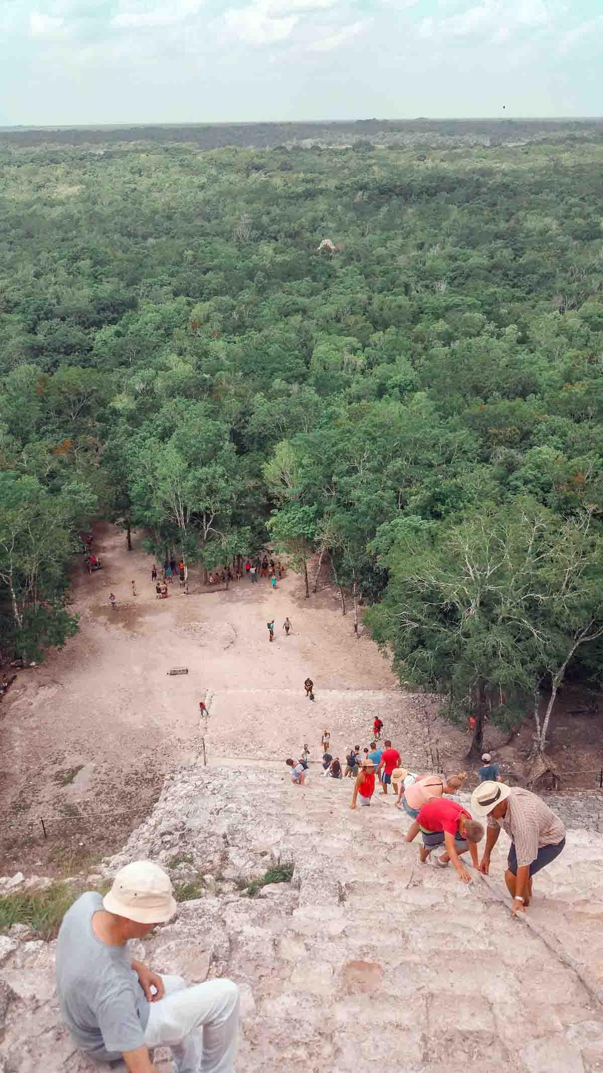 La ascensión en Cobá, en Riviera Maya