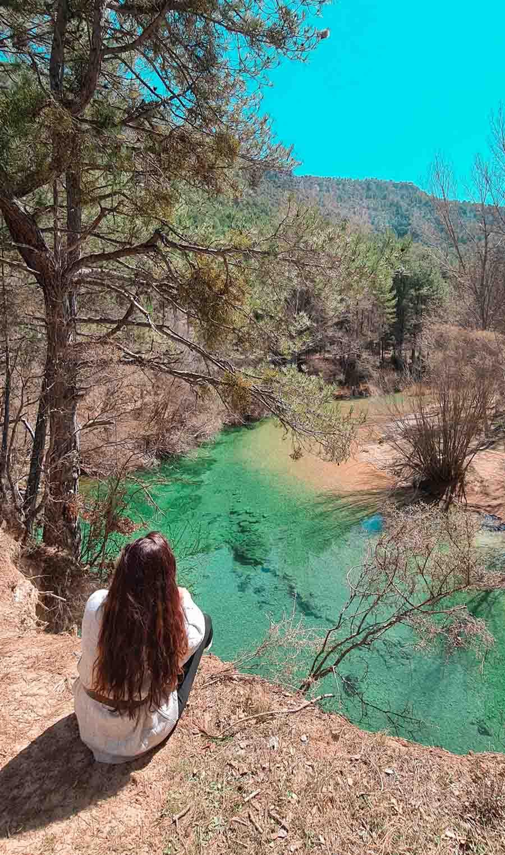 Disfrutando de la zona de la laguna de Taravilla, en la provincia de Guadalajara