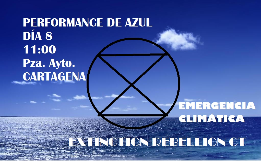 Performance estática, e itinerante XR en Cartagena (Murcia) mañana sábado 8 febrero