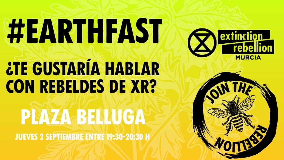 XR Murcia Ayuna por La Tierra, uniéndose a la acción Global Earth Fast