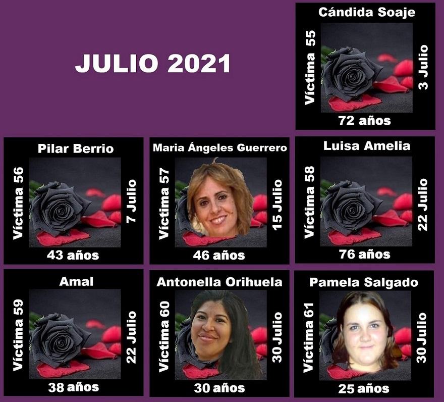 Julio 2021 (7 asesinatos machistas)