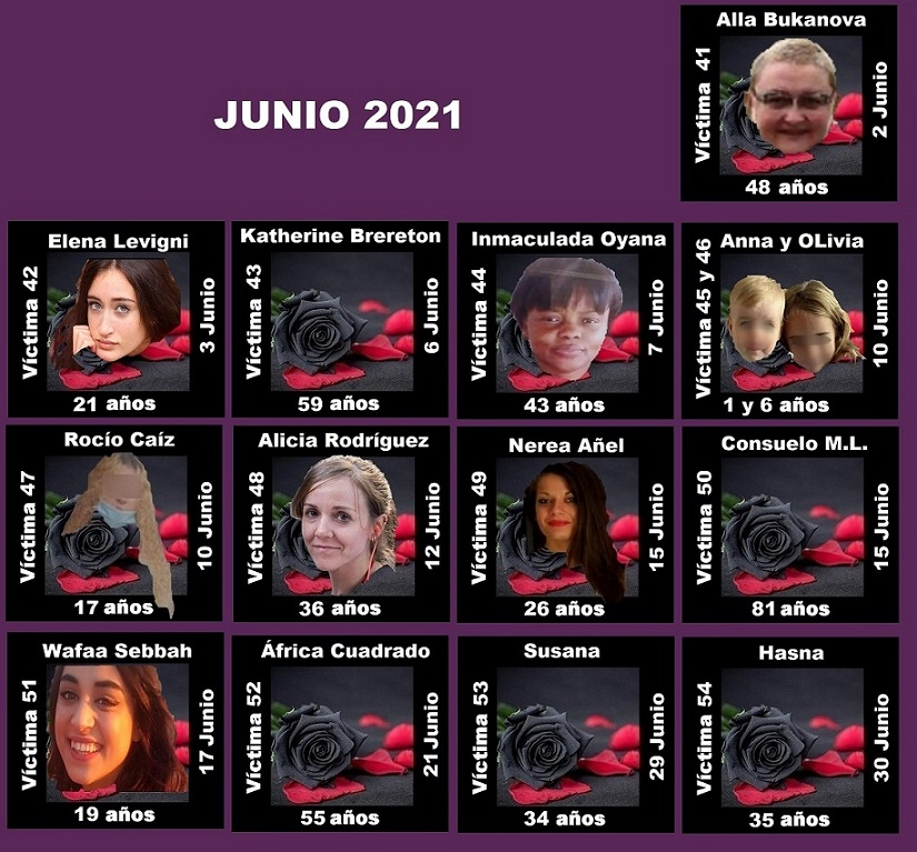 JUNIO 2021 (14 ASESINATOS MACHISTAS)