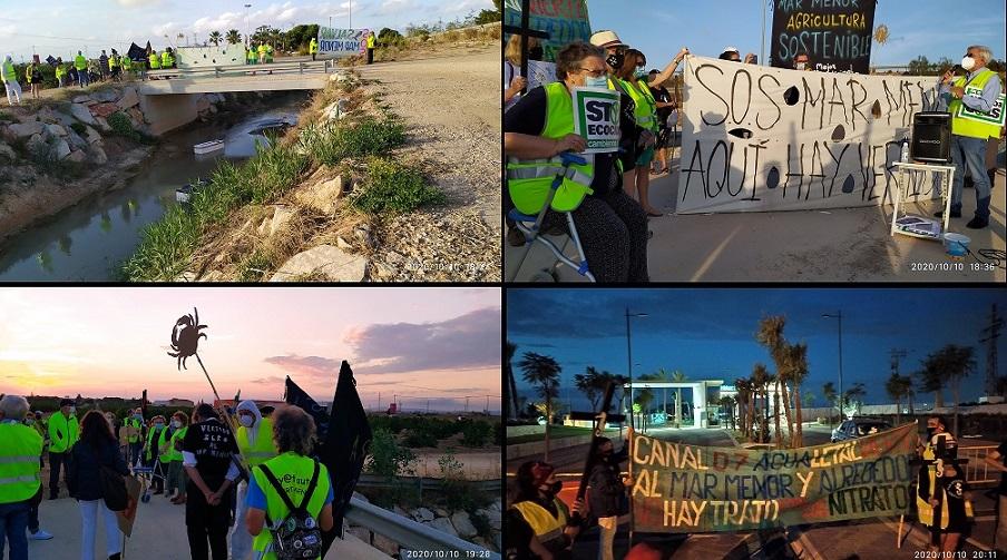 MANIFESTACIÓN EN EL CANAL D7 POR LOS VERTIDOS AL MAR MENOR, UN AÑO DESPUÉS DEL ECOCIDIO Y SIGUEN VERTIENDO SIN PARAR