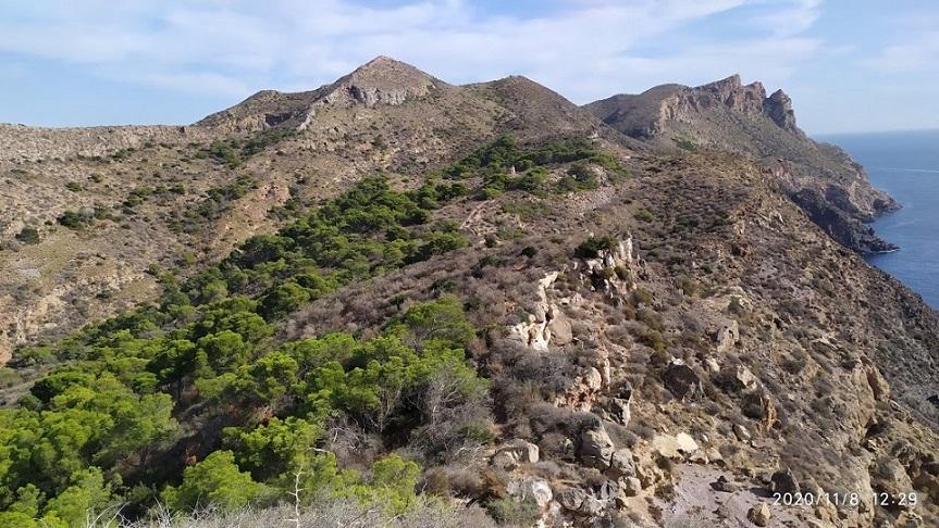 Ruta por La Sierra de La Fausilla de Punta de Aguilones a Punta Negra, sin llegar al Cabo de Agua