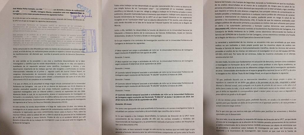 TRIANIVERSARIO DE LOS COMUNICADOS DE PRENSA DE LA UPCT EN LOS QUE ME TACHA DE ESTUDIANTE Y DESACREDITA MIS TRABAJOS DE INVESTIGACIÓN.