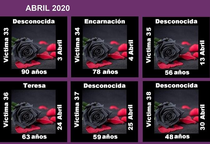 ABRIL 2020 (6 ASESINATOS MACHISTAS)