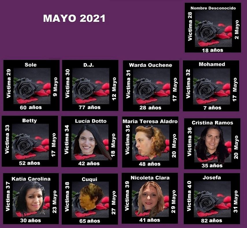 MAYO 2021 (13 ASESINATOS MACHISTAS)