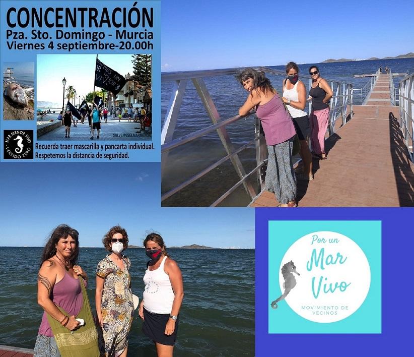 Ayer con Maite Mompó Embajadora de Fundación Tierra de hombres y representante de la fundación Stop Ecocidio, mañana concentración en Murcia
