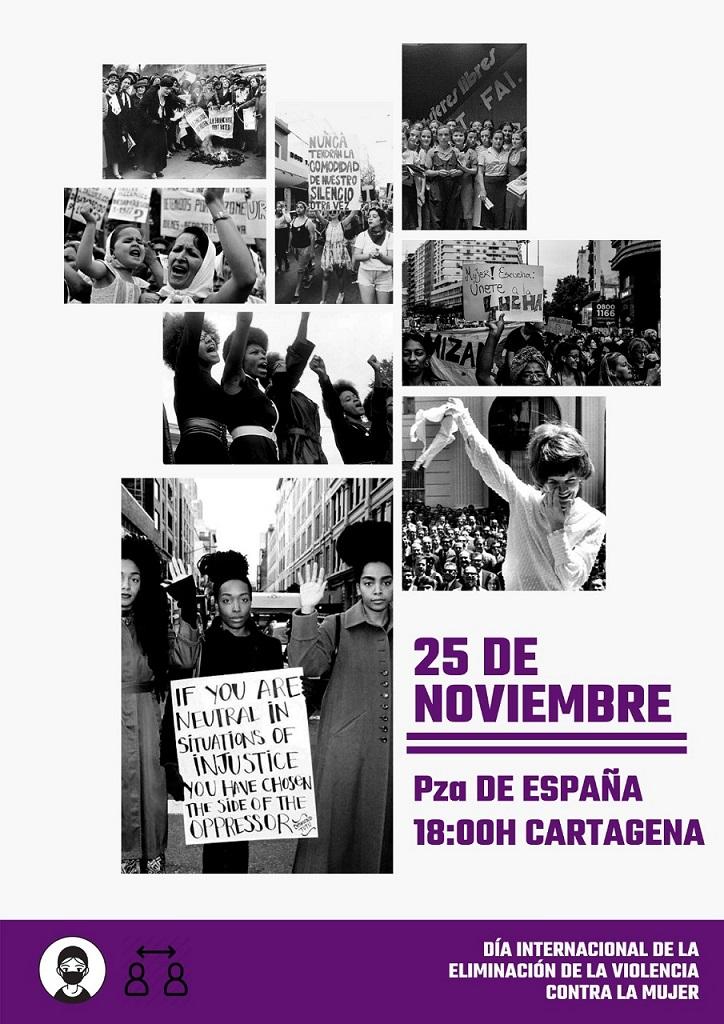 En el día mundial contra la violencia machista, en Cartagena se convoca concentración en Plaza España