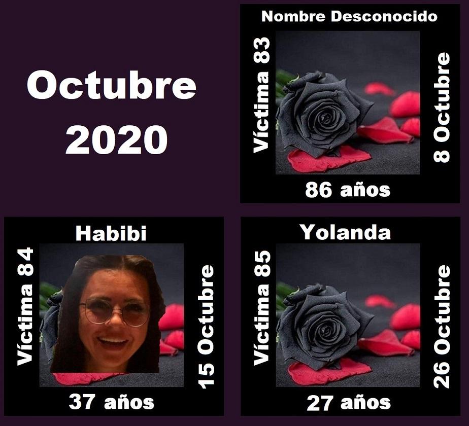 OCTUBRE 2020 (3 ASESINATOS MACHISTAS)
