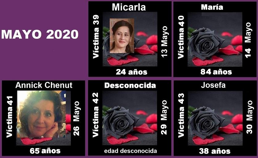 MAYO 2020 (5 ASESINATOS MACHISTAS)