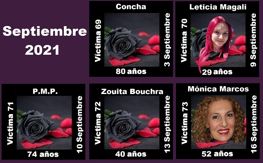 Septiembre 2021 (5 asesinatos machistas)