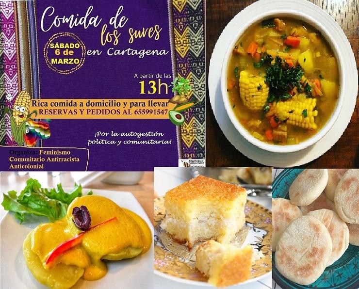 Cocina de Los Sures en Cartagena por Feminismo Comunitario Antirracista Anticolonial para conectar con la comunidad