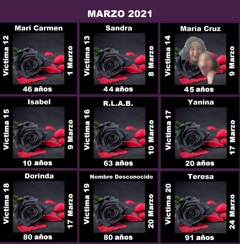 MARZO 2021 (9 ASESINATOS MACHISTAS)