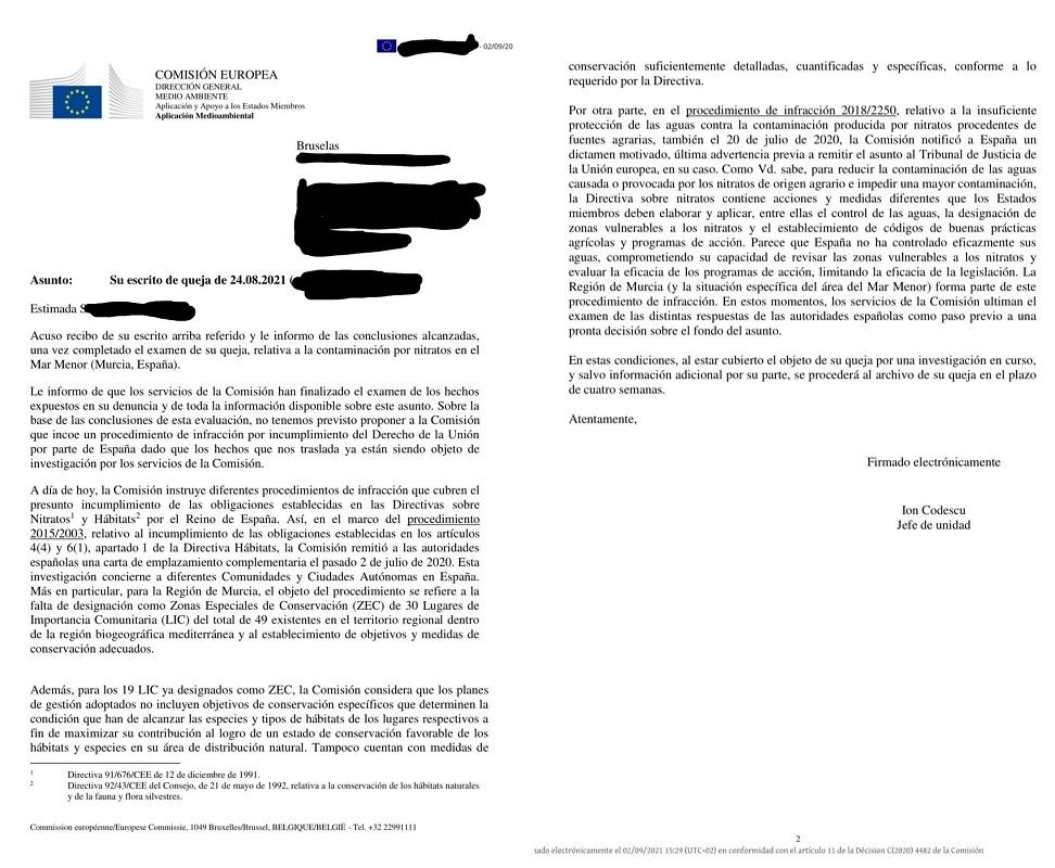 Presenta tu denuncia en Bruselas por El Mar Menor, paso a paso y desde casa